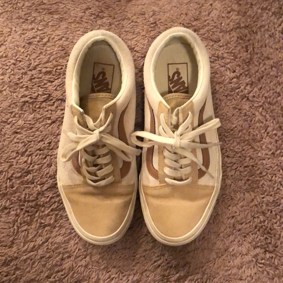 5432cead3e Madewell x Vans Old Skool in Camel Colorblock. M 5b7f2e55f30369452c3ed42c